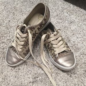 Gold Michael Kors sneakers